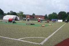Als Wettbewerbs-Arena umgebaut: Das Hache Stadion in Syke.