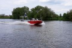 Das Boot im Hafen von Höltenwerder.