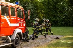In den letzten Tagen und Wochen waren die Verdener Feuerwehren schon kräftig auf dem Übungsplatz an der Artilleriestraße am üben.