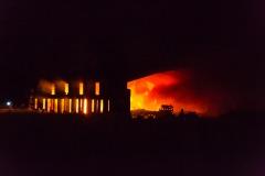 Bei Eintreffen der ersten Kräfte standen weite Teile des Gebäudes bereits in Flammen.
