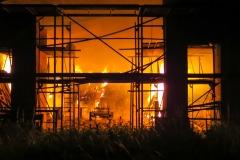 Neben eingelagertem Heu brannten auch diverse landwirtschaftliche Gerätschaften.