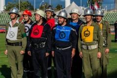 Die internationale Gruppe mit dem Verdener Angriffstruppführer Michael Knoop.
