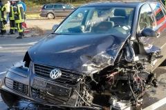 Schäden an einem der beteiligten Fahrzeuge.