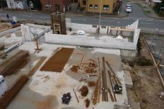 27.12.2017 - Blick auf die Baustelle. Der Kameradschaftsraum ist schon zu erahnen.
