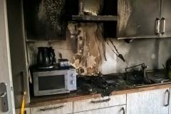 Brandschäden an der Küche.