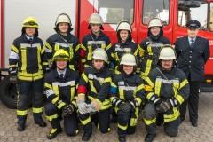 Gruppenbild der ersten Ausbildungsgruppe.