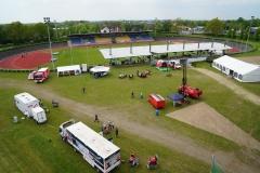 Blick auf das Veranstaltungsgelände von oben.