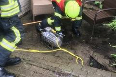 Schmutzwasserpumpe im Einsatz.