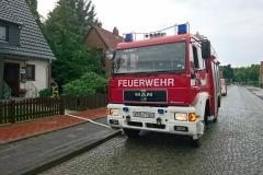 Feuerwehreinsatz in der Carl-Hesse-Straße - Ein Keller war nach dem Gewitterschauer voll Wasser gelaufen.