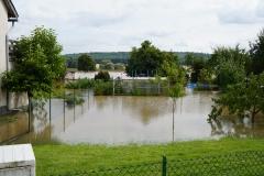 Die Ortschaft Heersum stand bei Eintreffen der KFB bereits teilweise unter Wasser.