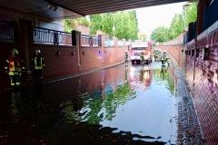 Überschwemmter Ysotunnel.