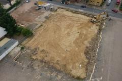 Blick auf das Baugelände.