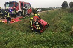 Ein Verkehrsunfall war das Szenario für eine Übung in Hönisch.