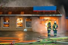 Mit 245 Einsätzen konnte die Ortsfeuerwehr Verden auf ein sehr einsatzreiches Jahr zurückblicken (Foto: Brand eines Supermarktes im April 2017).