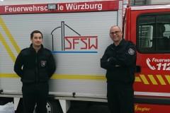 Haben die Ausbildung zum CTIF-Wettbewerbsrichter bestanden: Cedric Houben und Torben Voigt (von links).