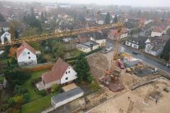15.11.2017 - Fortlaufende Bauarbeiten, der Baukran steht.