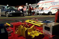 Alles ist vorbereitet für den gemeinsamen Dienst mit dem DRK und der Feuerwehr.