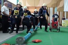Die CTIF-Wettbewerbsgruppe der Feuerwehr Verden beim Kuppel-Cup im Westerwald.