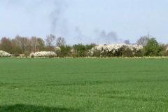 Rauchsäule sichtbar aus der Gemeinde Dörverden.
