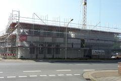27.04.2018 - Fortschritt der Bauarbeiten, Ansicht aus Richtung Lindhooper Straße.
