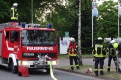 Das Wasser für die Brandbekämpfung kam aus Hydranten.