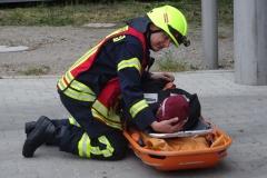 Betreuung einer Verletzten Person.