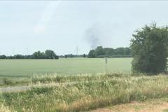 Ein Rauchpilz wies den Verdener Einsatzkräften den Weg nach Wechold in den Landkreis Nienburg.