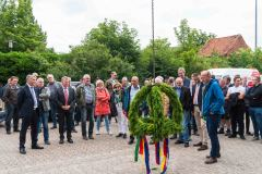 Richtfest des Verdener Feuerwehrhauses mit Mitgliedern der Ortsfeuerwehr sowie des Stadtrates und der Stadtverwaltung.