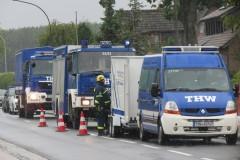 Neben diversen Ortsfeuerwehren, war auch der THW OV Verden als Teil der Stadtverdener Gefahrgutgruppe vor Ort.