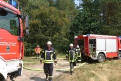 Einsatzkräfte aus Kirchlinteln und Verden  vor Ort.