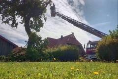 Auch am Sonntag mussten in der Gemeinde Langwedel noch Einsatzstellen bezüglich der Gewitterfront am Vortage abgearbeitet werden.