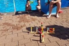 Schwimmwettbewerb.