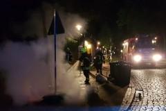 Am Holzmarkt waren gelbe Säcke in Brand geraten.