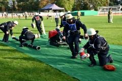 Das CTIF-Team der Feuerwehr Verden beim Wettbewerb in Pulversheim (Foto: Brinker).