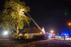 Die Einsatzstelle in Hassel (Foto: Feuerwehr Hassel).