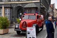 Zahlreiche Vorführungen und Fahrzeuge konnten auf der Feuerwehrmeile in der Lüneburger Innenstadt bestaunt werden.