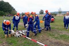 Feuerwehrkönnen und -wissen wurden bei den Teilnehmern geprüft, ...