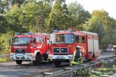 Einsatzfahrzeuge aus Verden und Walsrode.