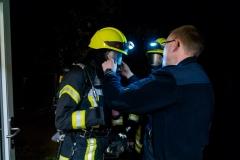 Sichteinschränkungen durch Rauch wurden durch eine Spezialfolie auf den Atemschutzmasken simuliert.