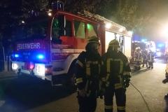 Einsatzkräfte in der Bürgermeister-Münchmeyer-Straße.