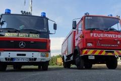 Fahrzeuge der Firma FTRC - Feuerwehr Trainings und Rettungs Center.
