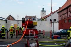 Feuerwehrkräfte im Einsatz.