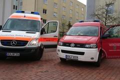 Zwei Mal gemeinsam am Samstagvormittag im Einsatz. Die Ortsfeuerwehr Verden und der Rettungsdienst.