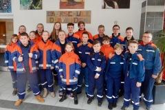 Die Jugendfeuerwehren Hönisch-Hutbergen und Walle beim Kreisquizturnier in der Oberschule Dörverden.