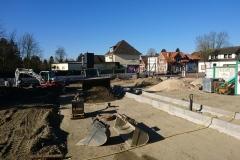 27. Februar 2019 - Der künftige PKW-Parkplatz an der Westseite des Neubaus.