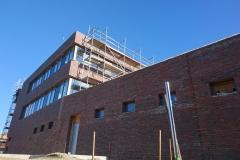 27. Februar 2019 - Die Westseite des Neubaus.