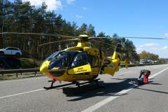 """Auch der Rettungshubschrauber """"Christoph 6"""" war an der Unfallstelle im Einsatz"""