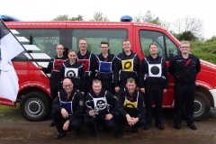 Das CTIF-Wettkampfteam der Verdener Ortsfeuerwehren beim Trainingswettbewerb in Asendorf.