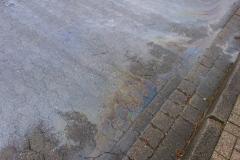 Teilweise kam es zu massiven Verunreinigungen, wie hier in der Rudolf-Diesel-Straße.