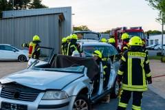 Neben den Türen wurde auch das Dach des Fahrzeuges entfernt.